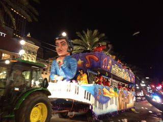 Mardis Gras float Elvis